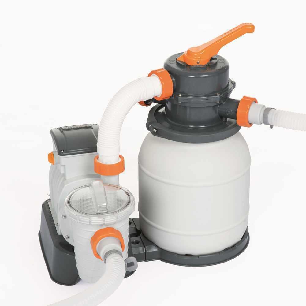 Bestway 58495 Flowclear Pompa filtro sabbia da 3785 lt h per piscina -58495-