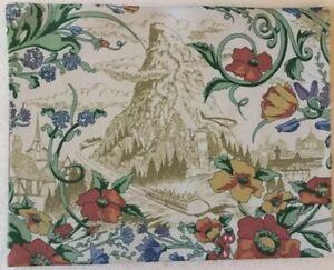 Disneyland-Hotel-Original-Fabric-Piece-Prop-MATTERHORN-14x-11