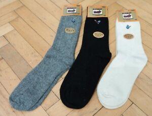 6 Pairs Pack Turkish Pure Merino Wool Seamless UNPAINTED Men Cream Winter Socks
