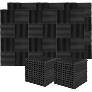 50-Pack Acoustic Foam Panels Wedge 12x12x1 Charcoal Gray Recording Studio Donner