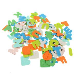 Details About 50pcs Adhesive Felt Shapes Alphabet Felt Board Applique Crafts Kid Toy Games
