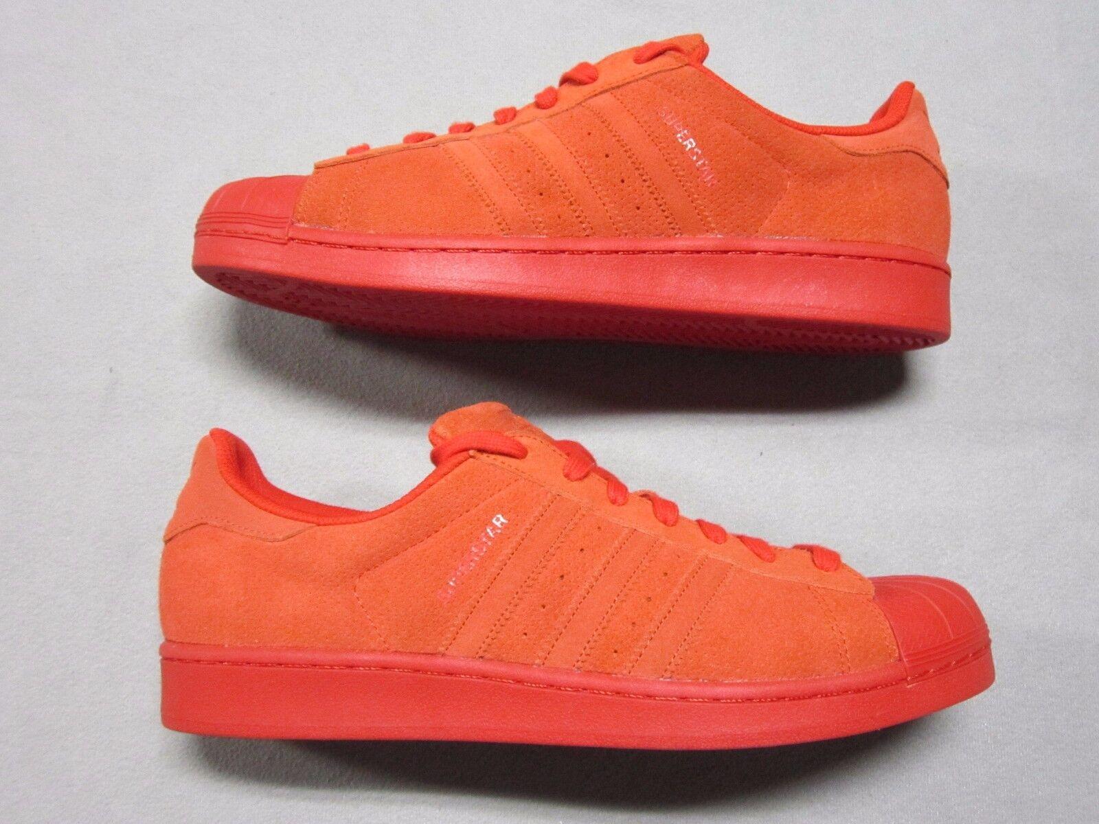 Adidas Original Superstar Mono Perf todos los zapatos tenis Rojo nuevo S79475