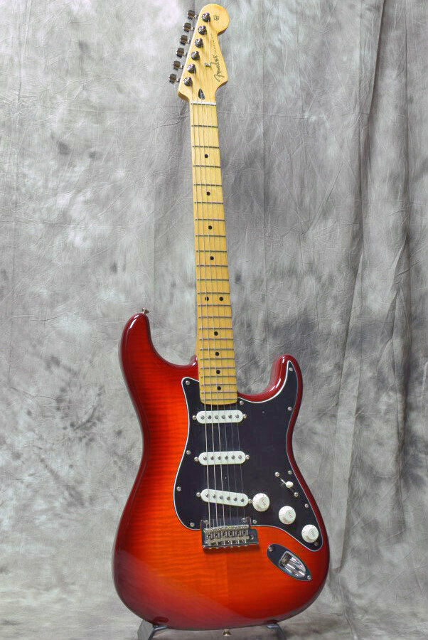 New Fender Player Series Stratocaster Plus Top Aged Cherry Burst Maple Guitar