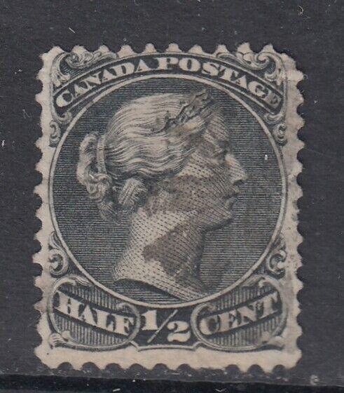 Canada Scott #21  1/2 cent black