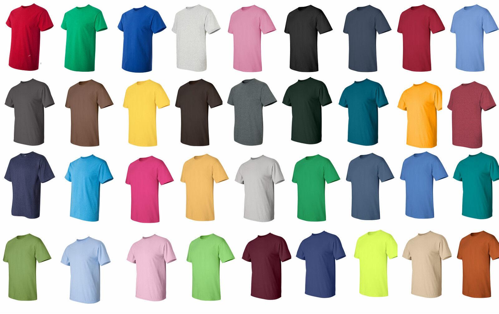 25,50 or 100 Gildan Blank T-Shirts  Bulk Wholesale S-XL Weiß or Farbes, 2000