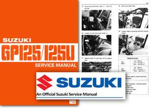 suzuki gp125 gp125u workshop service shop manual gp 125 u factory ebay rh ebay co uk suzuki skydrive fi 125 service manual 80 suzuki rm 125 service manual