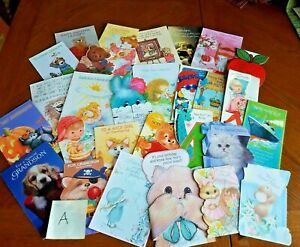 Vintage Mid Century Greeting Cards Mixed Lot Birthday Son Niece Daughter Cute!