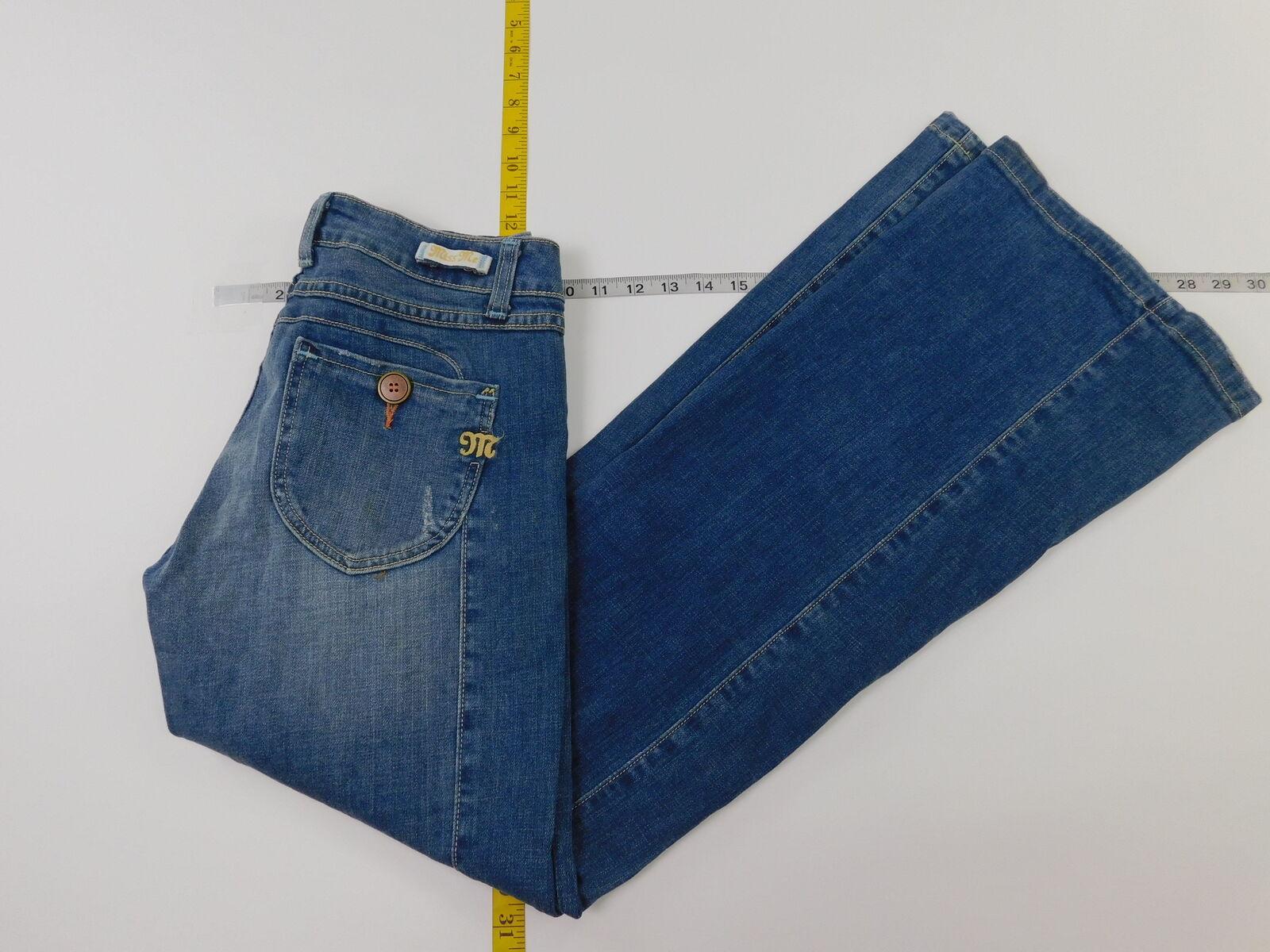 Womens Miss Me 28 Regular  Denim Jeans  Solid bluee
