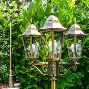 Lampadaire Doré Luminaire Éclairage de jardin Réverbère Lampe d ...