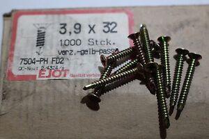 50 Stück Senkkopfschrau<wbr/>ben Bohrschrauben DIN 7504-PH   3,9x32 mm  Top Qualität