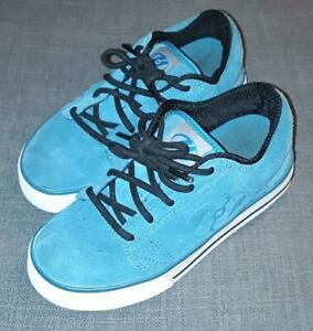 Heelys blue suede shoes size UK 13 with