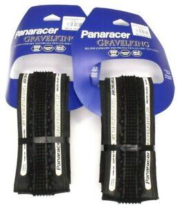 2-PACK Panaracer GravelKing SK Tire 700x26mm Black Sidewall, PAIR