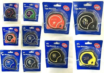 AFL OFFICIAL FOOTY 8m TAPE MEASURE BUILDERS MEASURING TAPE COLLINGWOOD MAGPIES