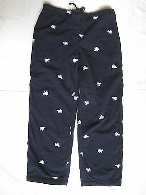 J. Crew Size S 100% Cotton Lounge Pants Navy Blue/White Embroidered Polar Bears