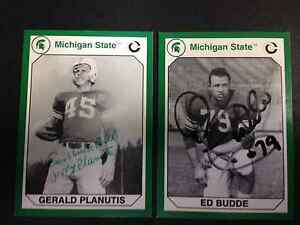 Autographed Michigan State Collegiate card Ed Budde KC Chiefs all-pro with COA