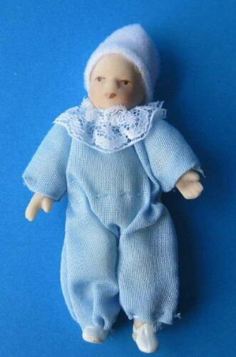 BABY blu chiaro bambole per casa delle bambole bambole Tube miniature 1:12