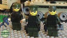 Army Staff Officer, Sergeant Major, Infantry Soldier, 3 Military Minifigure Set