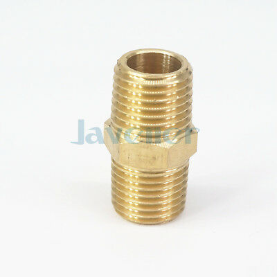 "Valves, Fittings & Clamps Gentle 1/4"" Bspt X 1/4"" Npt Male Hex Nipple Reducer Brass Pipe Fitting 229 Psi"