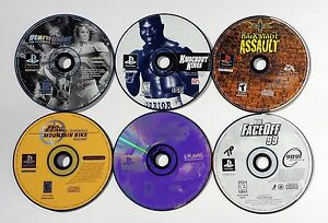 PLAYSTATION-1-PS1-VIDEO-GAME-LOT-STARWINDER-KNOCKOUT-KINGS-WCW-BACKSTAGE-ASSAULT