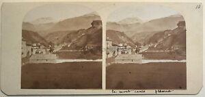 Monte Cenis A Suze Suza Piemonte Italia Foto Stereo Vintage Albumina c1860