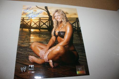 WWE WWF WCW DIVA TORRIE WILSON SIGNED 8X10 BIKINI POSE PHOTO NICE PLAYBOY COVER