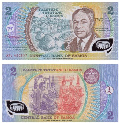 Samoa 2 Tala 1990 P-31e Polymer Banknotes UNC