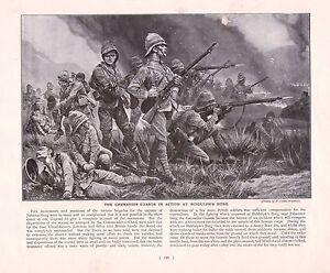 1900-BOER-WAR-PRINT-THE-GRENADIER-GUARDS-IN-ACTION-AT-BIDDULPH-039-S-BURG