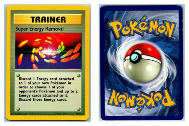 Super Energy Removal 79/102 Base Set Pokemon Card P Condition *