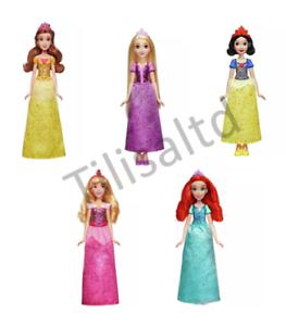 Disney Princess Royal Shimmer Belle, Aurora, Snow Bianco, Ariel, Rapunzel Bambole