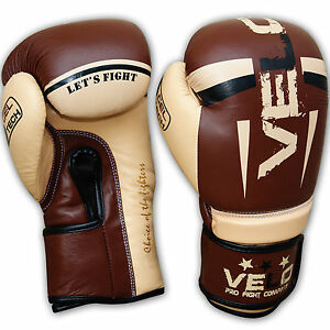 RDX Leather Gel Boxing Gloves Fight Punching Bag MMA Muay Thai Grappling CA