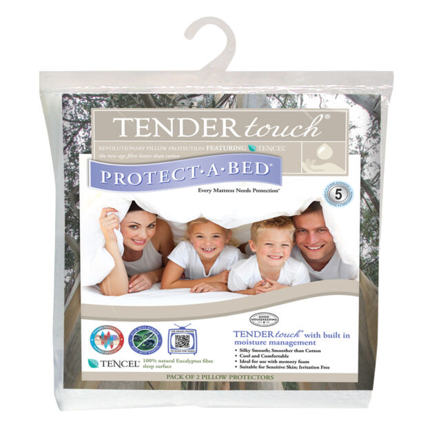 Protect a Bed Tender Touch Tencel Pair of Pillow Protectors