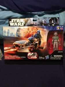 STAR WARS ROGUE ONE IMPERIAL SPEEDER w// AT-DP PILOT LOOSE!
