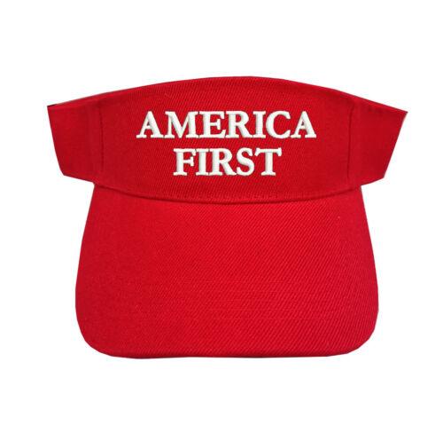 AMERICA FIRST RED SUN VISOR ADJUSTABLE TYPE