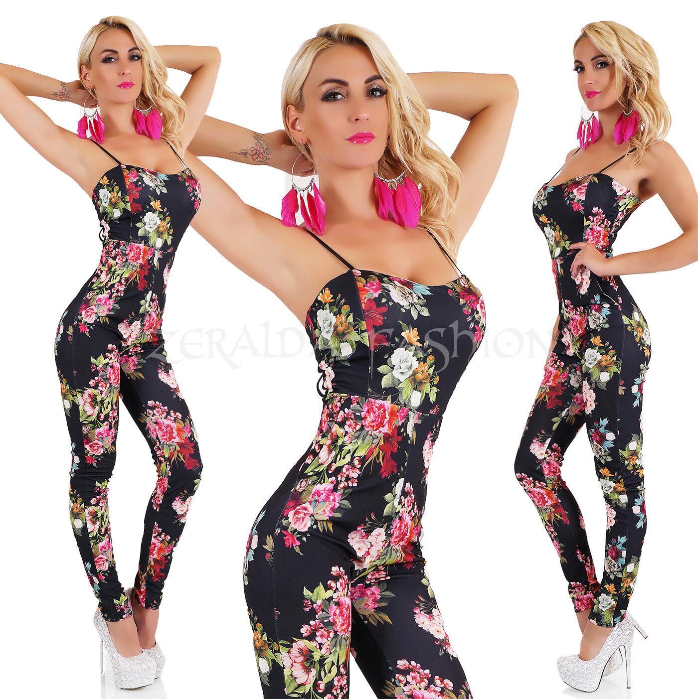 Chaud Combinaison sexuelle une pièce pantalon de sizeur fleuri 34-38