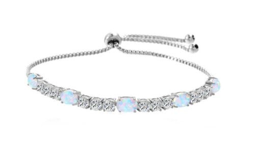 Tennis Bolo Bracelet plaqué or véritable cristaux 0.20 CT Handmade Slider Fermoir