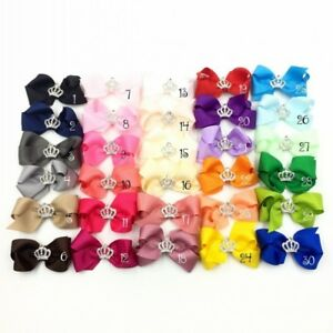 "50pcs 3/"" Dovetail Grosgrain Dot Ribbon Kids Hair Bows Hair Accessories no clips"