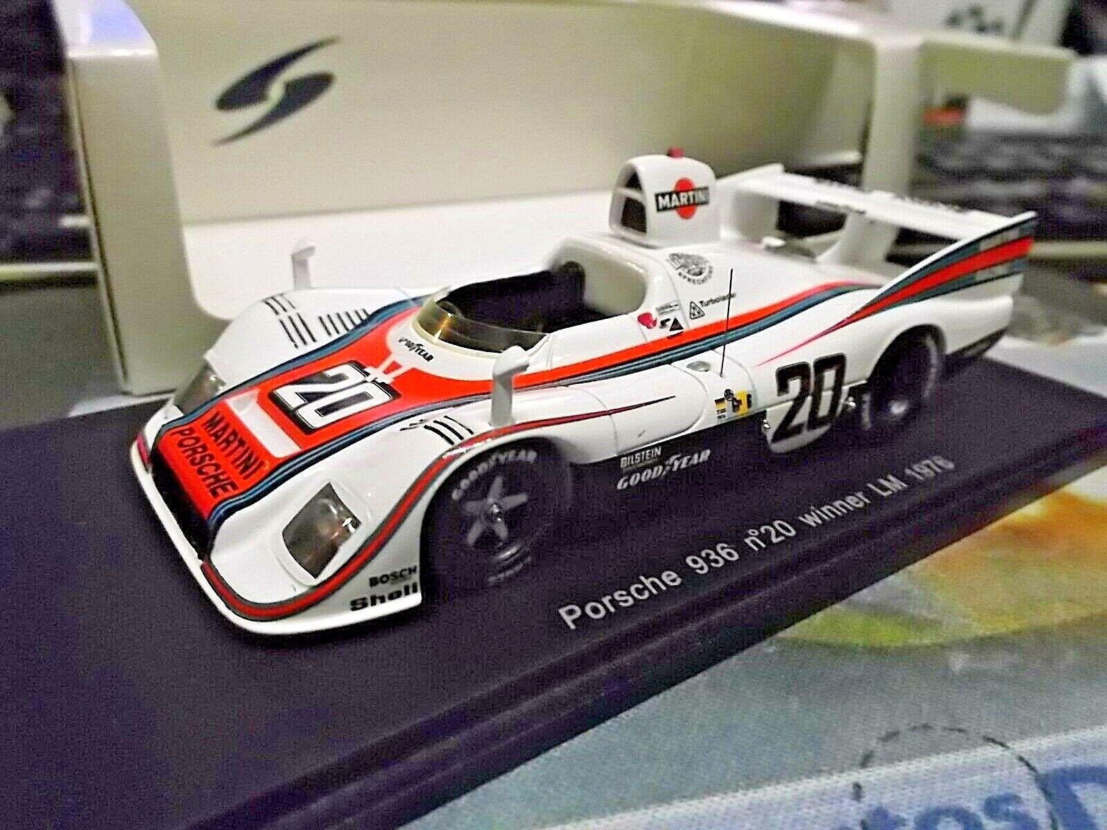 oferta de tienda Porsche Porsche Porsche 936 936 76 le mans winner martini racing  20 Ickx V. Lennep Spark 1 43  Mejor precio