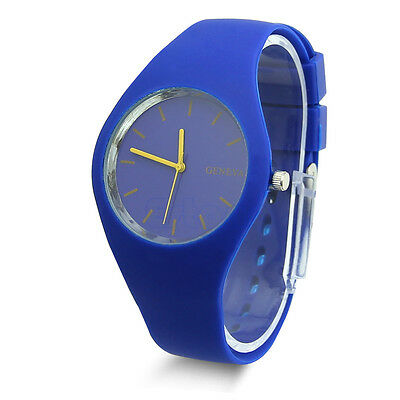 NEW Fashion Super Soft Geneva Womens Jelly Silicone Sports Watch Students Watch