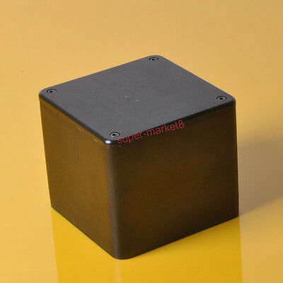 110x110x116mm Black Aluminum Transformer Cover Protect Chissis Enclosure Case