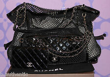 CHANEL MADRAGUE Woven Mesh Patent Chain GST Tote 2.55 Flap 2 in 1 Bag Wallet SET
