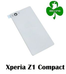 For Sony Xperia Z1 Compact Mini Back Battery Cover White Glass Plate New