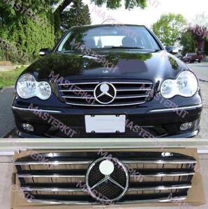Mercedes benz w203 grill c230 c320 c240 grille black or for 2001 mercedes benz c240 parts