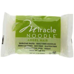 Miracle Noodle Angel Hair Shirataki Pasta 7 Oz 12pk Ebay