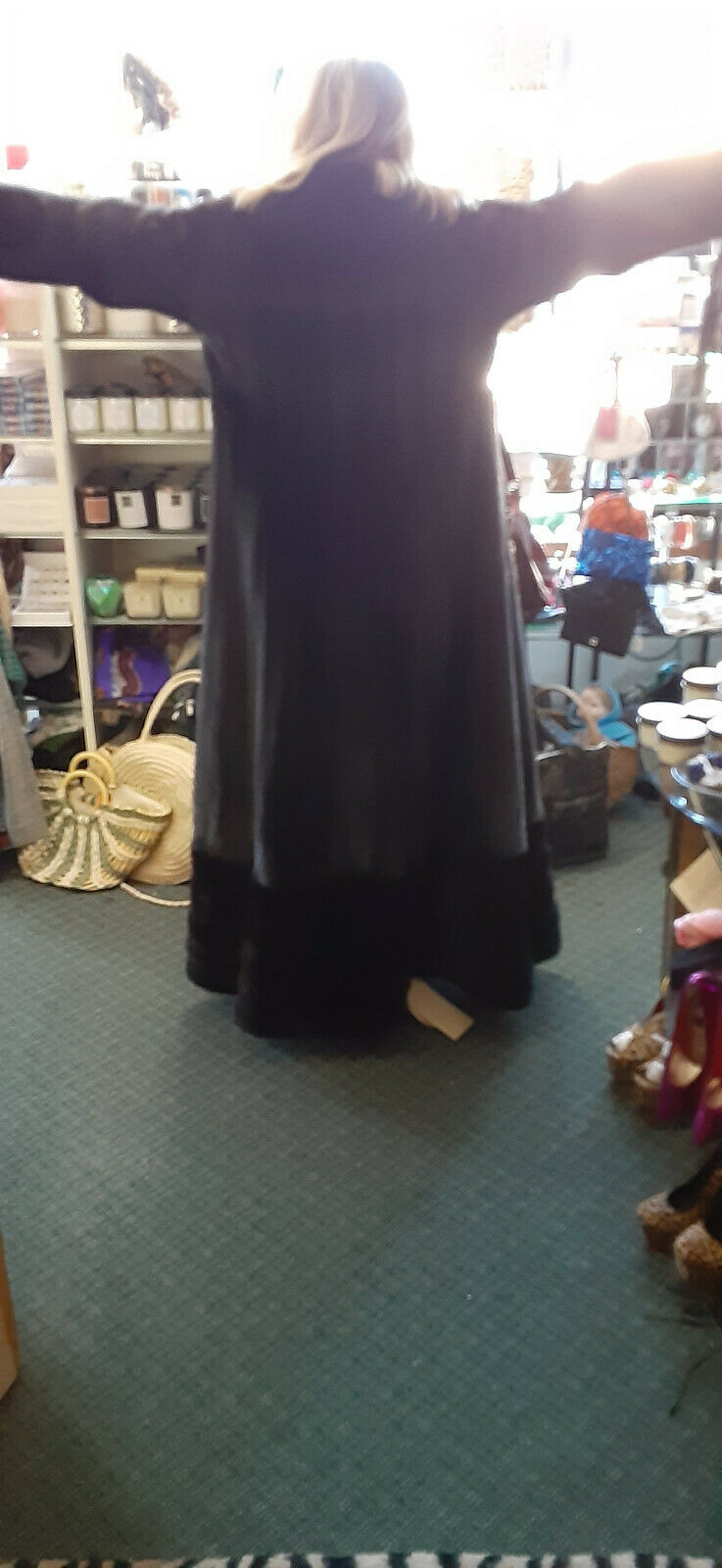 VINTAGE DELUXE FULL LENGHT MAHAGONY BROWN MINK W/… - image 4