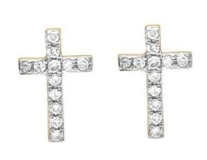Image Is Loading Uni 10k Yellow Gold Genuine Diamond 1 Row