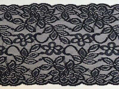 "laverslace Quality Deep Burnt Red Quality Wide Stretch Lace Trim 8/""//20 cm"