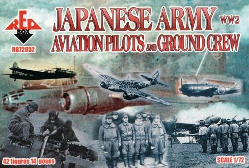 """72052 RED BOX Soldatini 1//72 /""""WW2 Japanese Army Aviation Pilots and Ground /"""""""