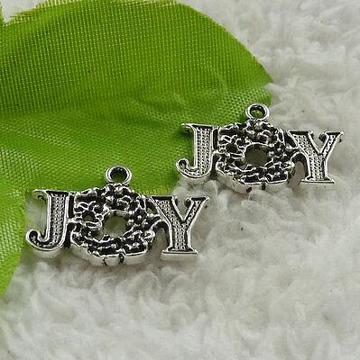 Free Ship 160 pieces tibet silver joy charms 25x16mm B4562