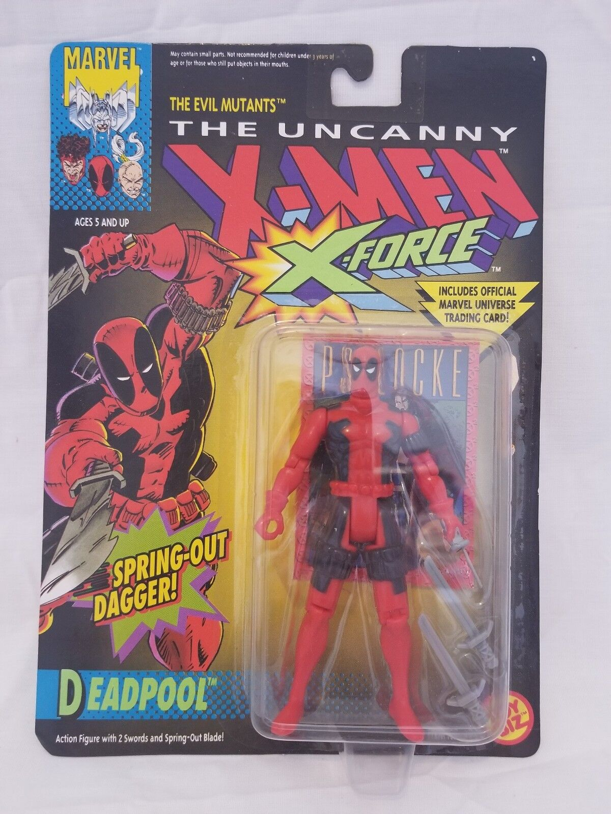 Leksakbranschen Den Uncanny X-män X-Force Deadpool Figur med Springa Out Dagger MOC