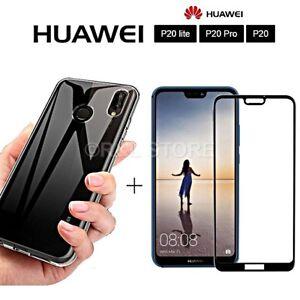 COVER-per-Huawei-P20-Lite-Pro-CUSTODIA-TPU-PELLICOLA-VETRO-TEMPERATO-3D-CURVO
